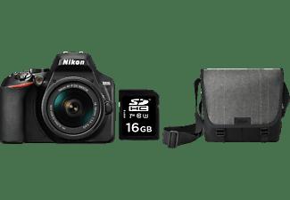 NIKON D3500 Kit Spiegelreflexkamera, 24.2 Millionen Pixel, 18-55 mm Objektiv, Schwarz