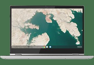 LENOVO Chromebook C340-15, Chromebook mit 15,6 Zoll Display, Core™ i3 Prozessor, 4 GB RAM, 128 GB eMMC, Intel UHD Graphics 620, Mineral Grey