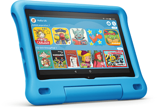 AMAZON Das neue Fire HD 8 Kids Edition-Tablet, 8-Zoll-HD-Display, 32 GB, blaue kindgerechte Hülle, Tablet, 32 GB, 8 Zoll, Blau