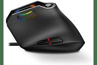 Ratón gaming - Krom Kaox RGB, Vertical, Por cable, 6400 DPI, Para PC, Retroiluminado, Negro