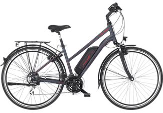 FISCHER ETD 1806-S1 Trekkingrad (Laufradgröße: 28 Zoll, Damen-Rad, 422 Wh, Grau matt)