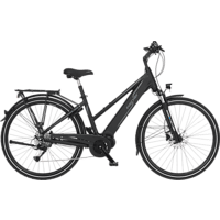FISCHER VIATOR 4.0I-S1 Trekkingrad (28 Zoll, Rahmenhöhe: 28 Zoll, Damen-Rad, 418 Wh, Schwarz matt)