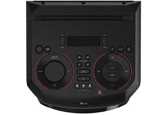 Altavoz de gran potencia - LG XBOOM RN5, USB, Radio FM, Karaoke, luces LED, Negro