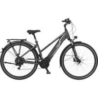 FISCHER VIATOR 5.0I-S2 Trekkingrad (28 Zoll, Rahmenhöhe: 28 Zoll, Damen-Rad, 418 Wh, Grau matt)