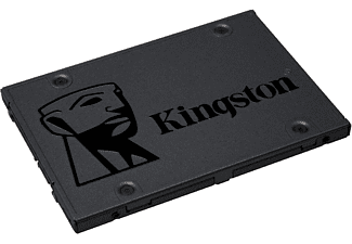 "Disco duro SSD 960 GB - Kingston SSD A400, 2.5"", SATA III, Lectura 500 MBs, Negro"