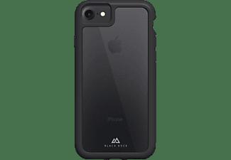 BLACK ROCK Robust Transparent, Backcover, Apple, iPhone 7/8/SE 2020, Schwarz