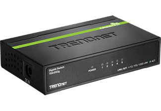 TRENDNET TEG-S50g Gigabit GREENnet à 5 ports - Switch (Noir/Vert)