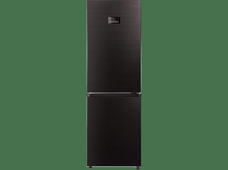 MIDEA KG 8.2 DX Kühlgefrierkombination, 248 kWh/Jahr, 1858 mm hoch, Dark Inox)