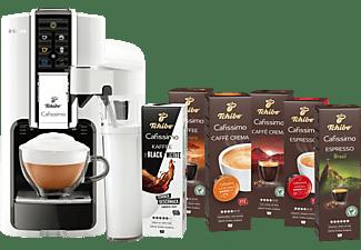 TCHIBO CAFISSIMO Latte Bianco + 60 Kapseln (Espresso, Filterkaffee, Caffè Crema) Kapselmaschine Weiß