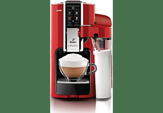 TCHIBO CAFISSIMO Saeco Latte + 60 Kapseln (Espresso, Filterkaffee, Caffè Crema) Kapselmaschine Rot