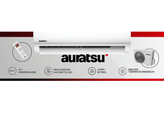 AURATSU AWX-12KT Klimagerät Weiß Energieeffizienzklasse: A++, Max. Raumgröße: 100 m³