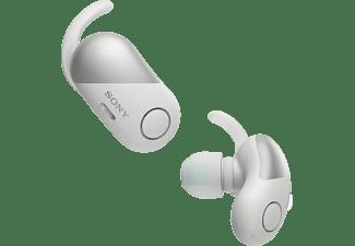 SONY WF-SP700N Earbuds, Ladeetui, In-ear Kopfhörer Bluetooth Weiß