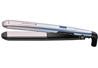Plancha de pelo - Remington Mineral Glow, Revestimiento de cerámica, 9 niveles, 230ºC, Violeta