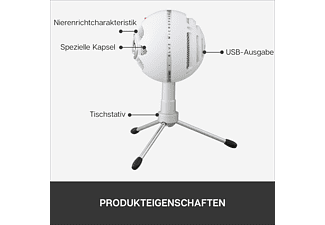 BLUE MICROPHONES Snowball iCE USB Mikrofon, Weiß
