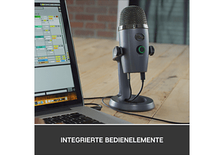 BLUE MICROPHONES Yeti Nano Premium USB Mikrofon, Shadow Grey