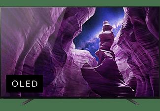 SONY KE-55A8 OLED TV (Flat, 55 Zoll / 139 cm, OLED 4K, SMART TV, Android TV)