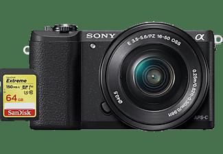 SONY Alpha 5100 Bundle mit E 16-50mm F3.5-5.6 und SanDisk Extreme SDXC UHS-I 64 GB