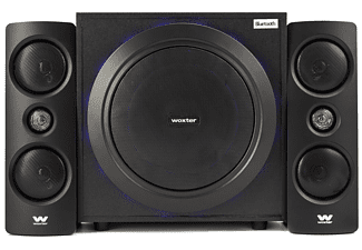 Sistema de altavoces - Woxter Big Bass 500r, 150 W, 2.1, Bluetooth, Negro