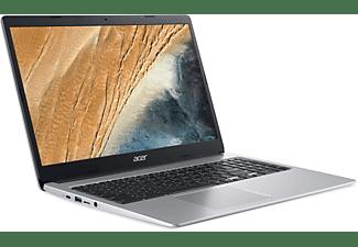ACER Chromebook 15 (CB315-3HT-P297), Chromebook mit 15,6 Zoll Display, Intel® Pentium® Silver Prozessor, 8 GB RAM, 128 GB eMMC, Intel® UHD Grafik 605, Silber