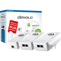 DEVOLO 8625 Magic 2 WiFi next Multiroom Kit Powerline Adapter 2400 Mbit/s Kabellos und Kabelgebunden