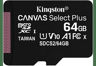 KINGSTON 64GB Speicherkarte Canvas Select Plus microSDXC 2er-Kit, R100 MB/s, UHS-I, U1, V10, Schwarz