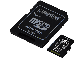 KINGSTON SDCS2, Micro-SD, SD Speicherkarte, 128 GB, 100 MB/s
