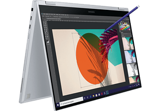 SAMSUNG Galaxy Book Flex, Convertible mit 15,6 Zoll Display, Core™ i5 Prozessor, 8 GB RAM, 256 GB SSD, Intel® Iris® Plus, Royal Silver