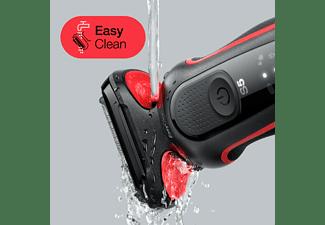 Afeitadora - Braun Series 5 50-R1200s, Eléctrica para barba, Recortadora de precisión, 50 min, Rojo