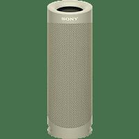 SONY SRS-XB23 tragbar, kabellos, 12h Akkulaufzeit, EXTRA BASS Bluetooth Lautsprecher, Beige, Wasserfest