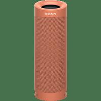 SONY SRS-XB23 tragbar, kabellos, 12h Akkulaufzeit, EXTRA BASS Bluetooth Lautsprecher, Rot, Wasserfest