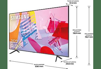 "TV QLED 55"" - Samsung 55Q60T, 4K UHD 2020, Smart TV, HDR 10+, IA, Negro"