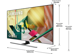 "TV QLED 65"" - Samsung QE65Q75TATXXC, 4K UHD, 3840 x 2160 píxeles, CI +, Asistentes de Voz, Procesador 4K"