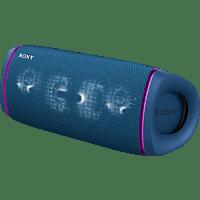 SONY SRS-XB43 tragbar, kabellos, Lautsprecherbeleuchtung, EXTRA BASS Bluetooth Lautsprecher, Blau, Wasserfest