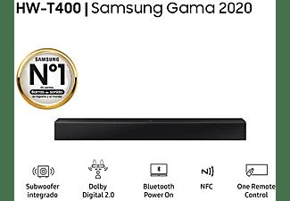 Barra de sonido - Samsung HW-T400, Bluetooth, Dolby Digital 2.0, Subwoofer integrado, Tecnología NFC