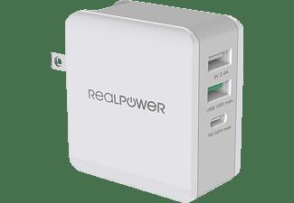 REALPOWER DeskCharge-65 Travel Ladegerät Universal, 65 Watt, Weiß