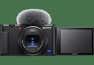 SONY ZV-1 Vlogging Kamera, seitlich klappbares Selfie-Display, 4K Digitalkamera Schwarz, 2.7x opt. Zoom, Xtra Fine Selfie-Touchdisplay, WLAN