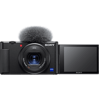 SONY ZV-1 Vlogging Kamera, seitlich klappbares Selfie-Display, 4K Digitalkamera Schwarz, 20.1 Megapixel, 2.7x opt. Zoom, Xtra Fine Selfie-Touchdisplay, WLAN