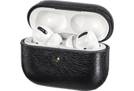 HAMA Etui für Apple AirPods Pro, Lederoptik, mit Sportband, Schwarz
