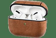 HAMA Etui für Apple AirPods Pro, Lederoptik, mit Sportband, Braun