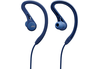 Auriculares inalámbricos - JVC HA-EC25W, Botón Bluetooth Sport, Compatible Asistente de Voz, 6.5 h, Azul