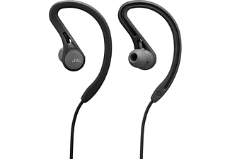 Auriculares inalámbricos - JVC HA-EC25W, Botón Bluetooth Sport, Compatible Asistente de Voz, 6.5 h, Negro
