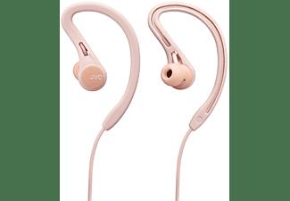Auriculares inalámbricos - JVC HA-EC25W, Botón Bluetooth Sport, Compatible Asistente de Voz, 6.5 h, Rosa