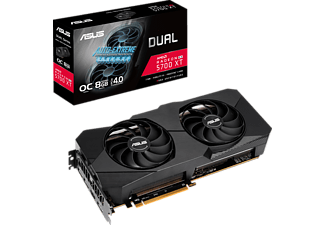 ASUS Radeon™ RX 5700 XT Dual Evo OC 8GB (90YV0DA2-M0NA00) (AMD, Grafikkarte)