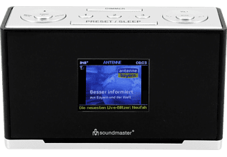 SOUNDMASTER UR240SW Radiowecker, Digital , DAB+, FM, Schwarz-Silber
