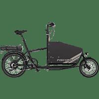 FISCHER - FAHRRAD 61336 Lastenrad (Laufradgröße: 20 Zoll, Unisex-Rad, 522 Wh, Schwarz Matt)