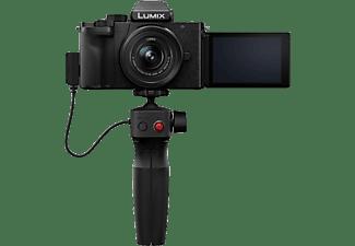 PANASONIC Systemkamera Lumix DC-G110 mit G Vario 12-32mm f3.5-5.6 ASPH OIS und Stativgriff