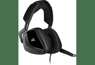 Auriculares Gaming - Corsair VOID ELITE STEREO, Jack 3,5 mm, 20 - 30000 Hz, micrófono Omnidireccional, Negro