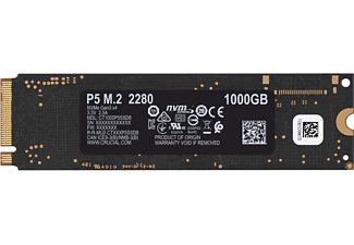 CRUCIAL P5 Festplatte, 1 TB SSD M.2 via PCIe, intern