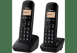 Teléfono - Panasonic KX-TGB612, 2 Terminales, Bloqueo de llamadas, 50 contactos, Resistente a golpes, Negro