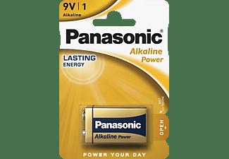 PANASONIC 00241999 6LR61APB/1BP 9 Volt Batterie, Alkaline, 9 Volt
